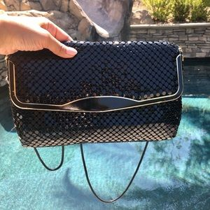 Vintage La Regale Black Mesh Purse